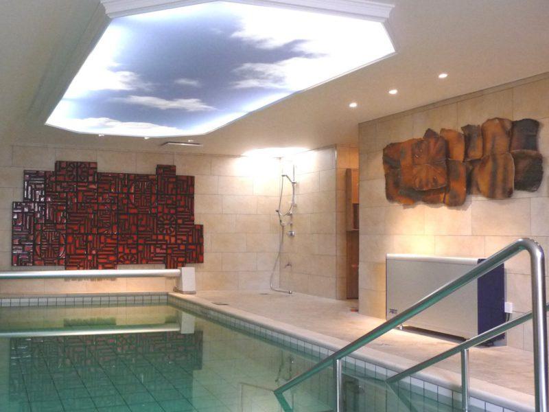 spandplafond in zwembadruimte